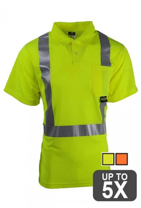 Radians Short Sleeve Safety Shirt ANSI Class 2
