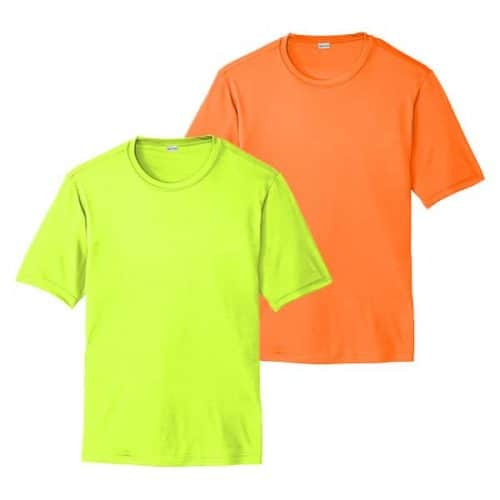 Short Sleeve Dry Fit Safety Shirts
