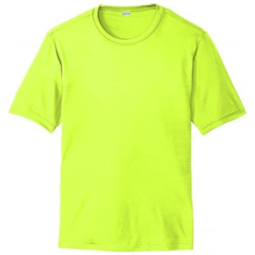Short Sleeve Dry Fit Safety Green Shirt