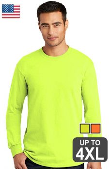 Port & Company All American Long Sleeve Safety Tee