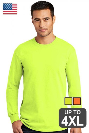 Made In USA Long Sleeve Safety Shirt