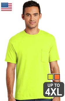 Port & Company All American Pocket Safety Tee