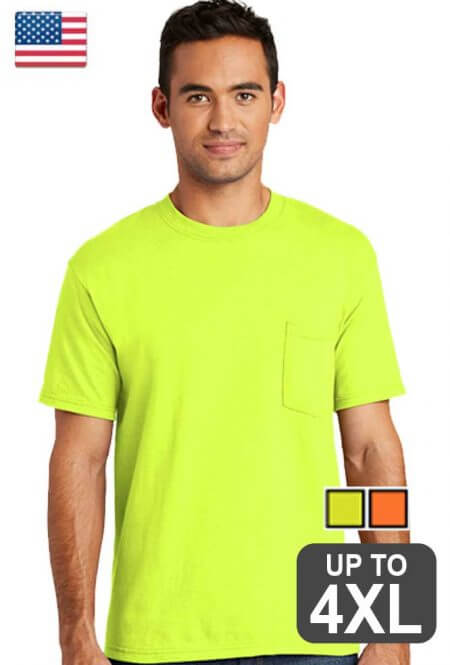 Made in USA pocket Safety T-Shirt