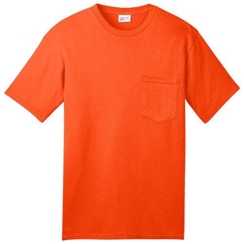 Safety Orange Pocket Shirt Made in USA