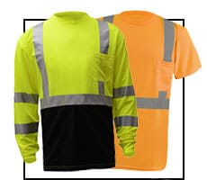 Reflective Class 2 and Class 3 Safety Shirts